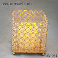 champagne gold crystal candle holder decoration materials for wedding decoration wedding centerpiece(CAN-064)