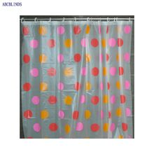 Polyester fabric color changing shower curtain