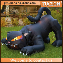 Customized design cute& large inflatable black cat / inflatable halloween black cat