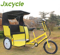 New adult passenger bicycle with 3 wheels/ tricycle pedicab rickshaw