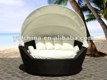 outdoor PE rattan beach daybed