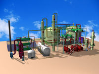 produce waste oil/crude oil/waste engine oil to diesel oil plant