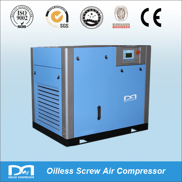 55kw top quality silent oil free screw air compressor for bock