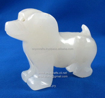Onyx Dog Figure in cheap price
