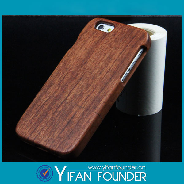 hot new products for 2015 smart phone wood back cover case / custom design case wood cover for iphone 6