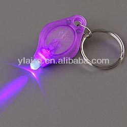 uv led keychain light with 365-400wavelength