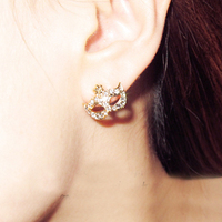 pictures of gold earrings diamante mask earring