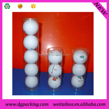 Golf Ball Packaging Tubes, plastic tube for 3&4&5 golf balls with printing logo