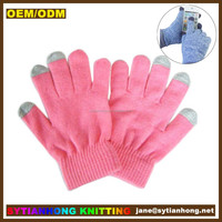 Glove factory wholesale neon color touch screen gloves