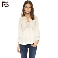 European style fashion white blouse for women