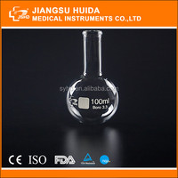 Manufacture Price HDA Glass Boiling Flask Narrow Neck Round Bottom with beaded rim