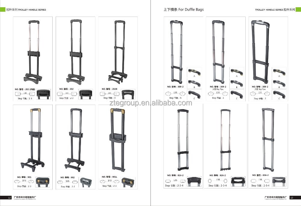 New design of Telescopic Luggage Trolley Handles