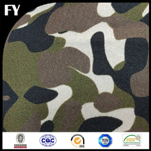 Custom digital print 100% silk twill blue camo design fabric