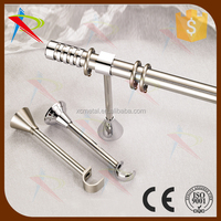 Durable metal wall mounting single curtain rods/curtain poles