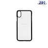 Hot sublimation printing 2D Blank Sublimation TPU+PC Cell Phone Cover Case For iPhone X