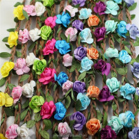 High Quality Artificial Flower Head Wire Wreath For Ladies