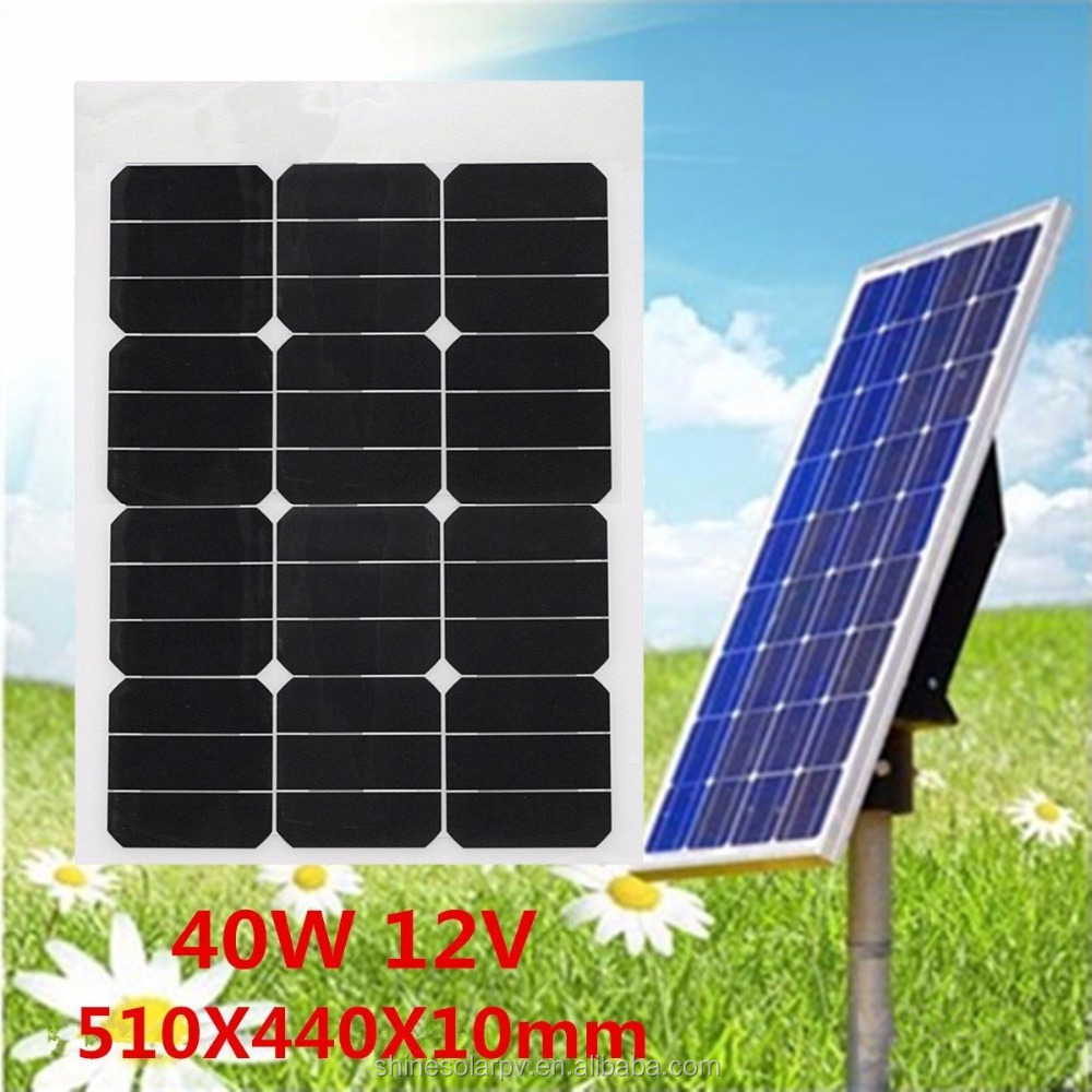 Customized 40w mini 12v small Flexible solar panel with sunpower cells