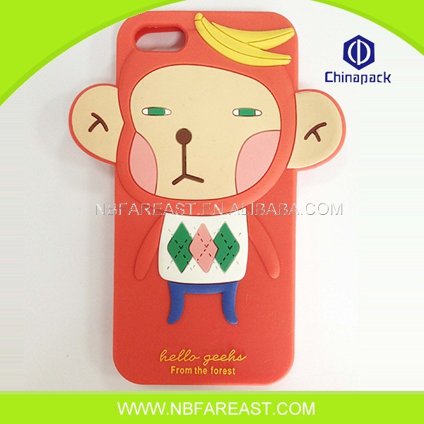Useful personal competitive price new silicone animal shaped phone cases