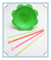 plastic ice cream flower cups/Transparent flower shape shaved ice cup
