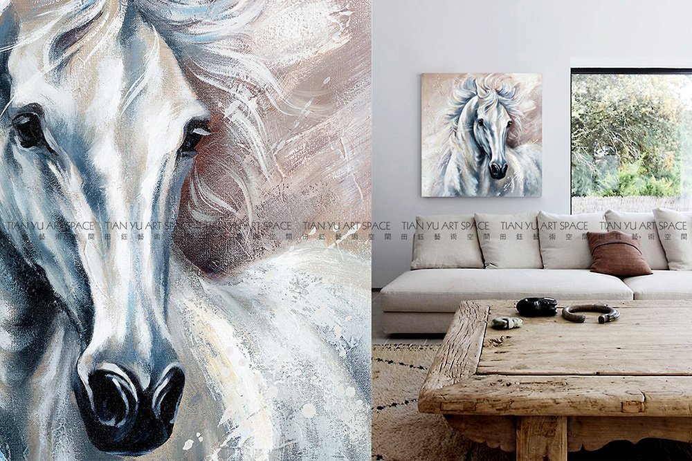 100% hand painted animal oil painting horse oil painting on canvas for wall decor