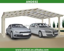 metal two cars polycarbonate canopy