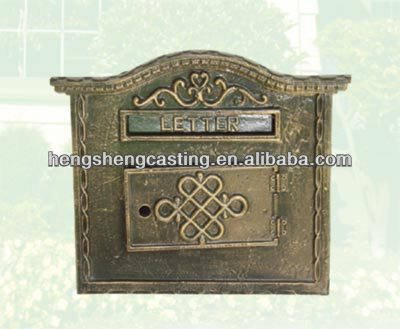 Botou hengsheg Antique wall mounted cast iron mailbox for sale