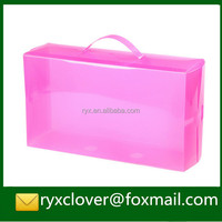 Wholesale high quality PP plastic clear packaging boxes/shoe packing boxes