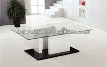 Luxury MDF Base and Top Glass Coffee Table SCT-532