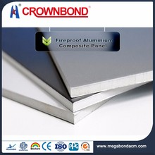 Crownbond PVDF PE 3mm 4mm 5mm 6mm fire rated aluminum composite panel,acp panel fireproof exterior cladding materials