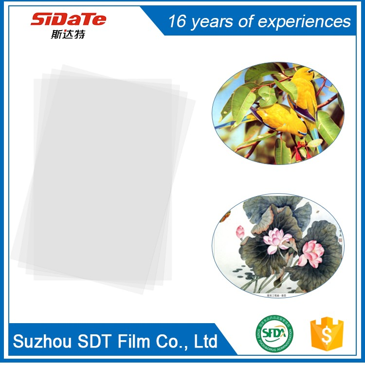 pet transparency film used in printing machine with cheap price