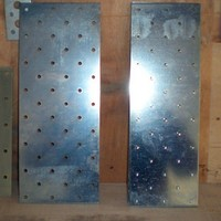 Galvanized Metal Flat Bracket