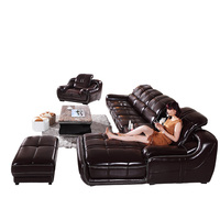 Foshan home furniture sofa set design converible stanley leather sofa india