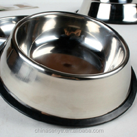 Stainless steel dog bowl large/small breed bowl non slip pet bowl large/small size