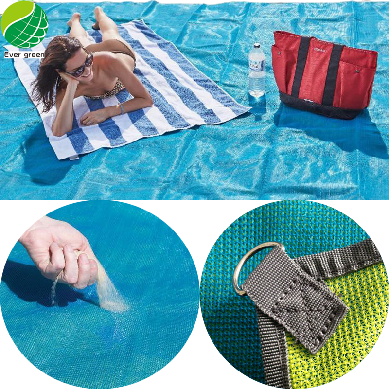 High Quality Sand Free Beach Blanket / Quicksand Camping Mat For Outdoor Sports & Entertainment