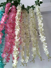 2016 wholesale nature color artificial silk wisteria flower for wedding decoration