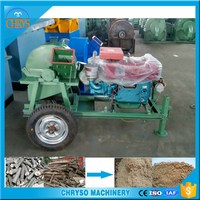 22hp diesel tractor crusher/ mobile crusher /wood sawdust machine