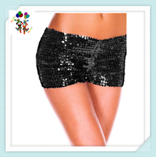 Burlesque Sexy Girls Hot Short Black Sequin Pants HPC-1888