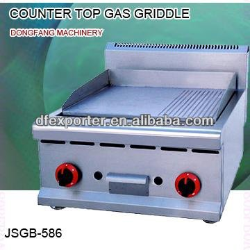 electric gas griddle, JSGB-586 counter top gas griddle