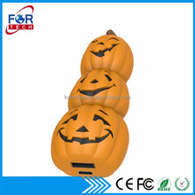 Custom Door Gifts Pumpkin King Power Bank Charger Cheap Powerbanks Cartoon Cute 3000mah with Logos