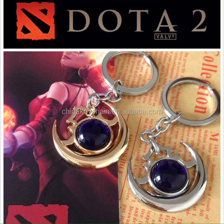 High Quality Metal Game Souvenir Key Ring Dota 2 Gift Keychain