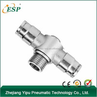 ESP metal pneumatic equipment male T shape conntectors single universal fittings