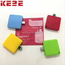 KEBE 2017 high quality disposable portable power bank travel charger 300mAh mini convenient