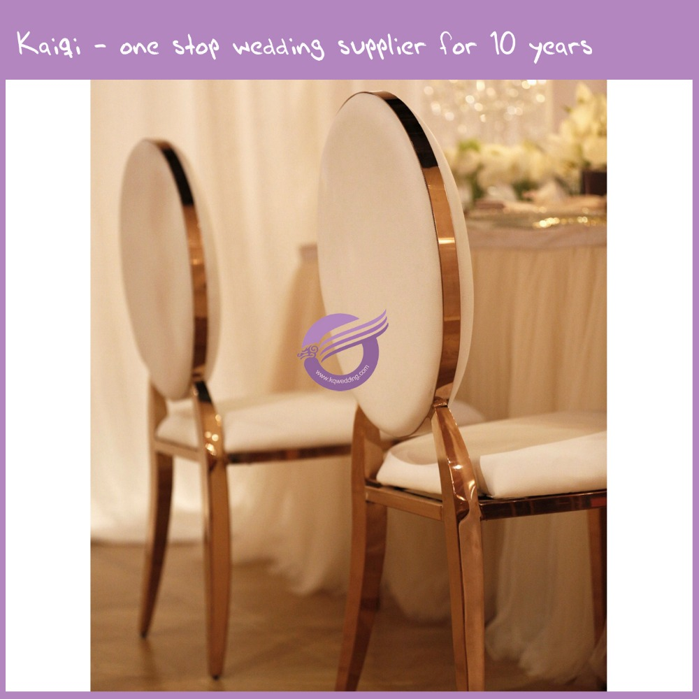 ZY00180wedding chair hotel new rose gold stainless steel chair