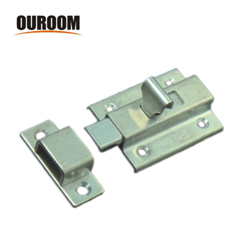 Ouroom wholesale products 160223 steel material plastic slide spring barrel bolt with strike and screws