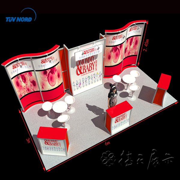 China modular trade show display exhibition stands