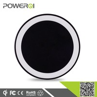 Alibaba china factory supplier Qi standard most popular round colorful wireless charger for huawei y300