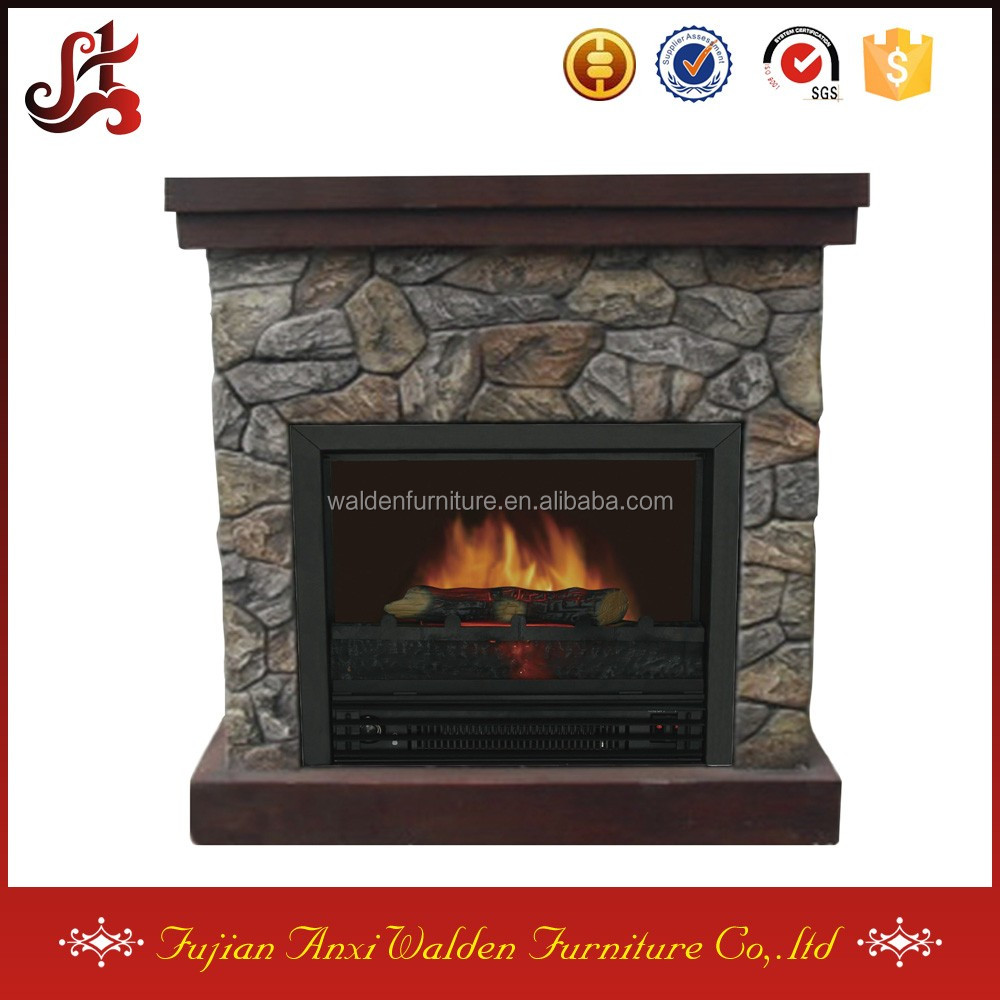 indoor wood burning faux stone fireplace inserts