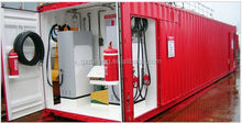 Best price 40 feet container embedded portable anti-skid fuel station for multi-fuels with good quality fuel dispenser