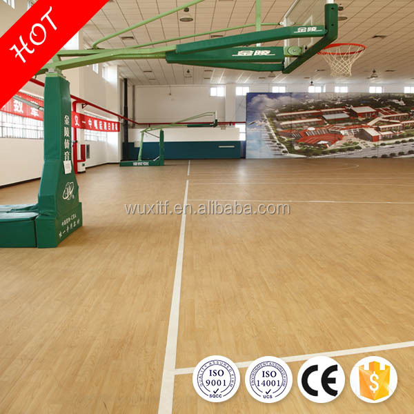 2017 hot sell anti-slip 5mm basketball flooring from China