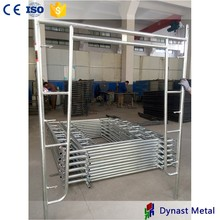 Factory price standard size steel galvanized h frame scaffolding for construction